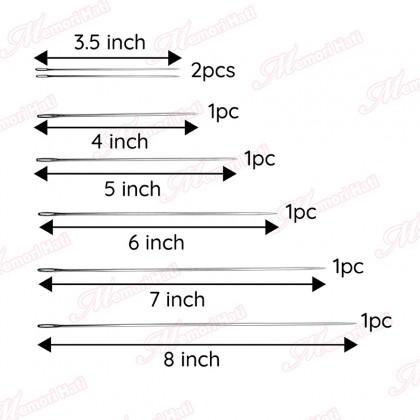 """Rathna Long Eyed Bookbinder Needle / Size 3.5"""", 4"""", 5"""", 6"""", 7"""" & 8"""""""