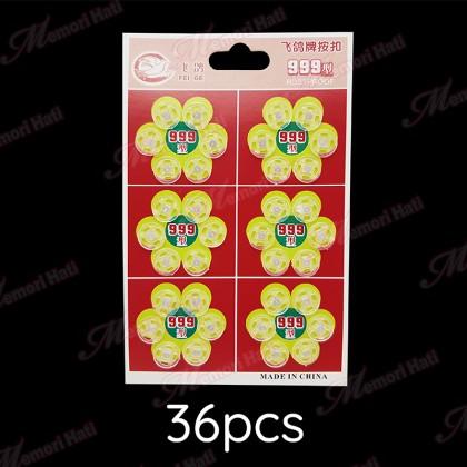 36pcs 1cm Plastic Snap Fastener / Butang Ketip