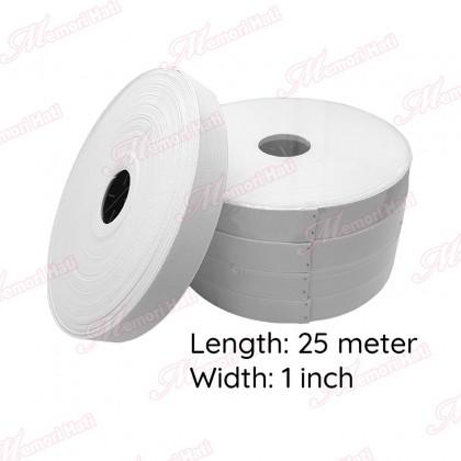 """25m 1"""" Getah Pinggang Kain Lembut Memori Hati / Elastic Tape"""